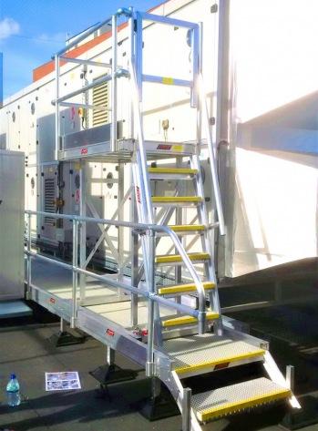AHU Cabinet Access Rolling Platform