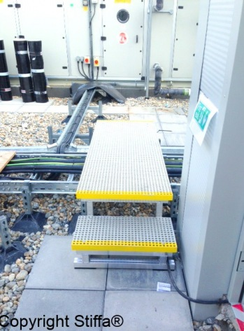 GRP Cable Tray Stepover
