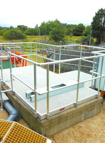 Platform Over Water Treatment Tank