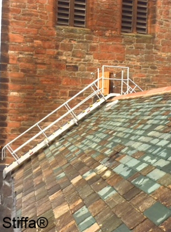 Stair Up Over Slate Roof