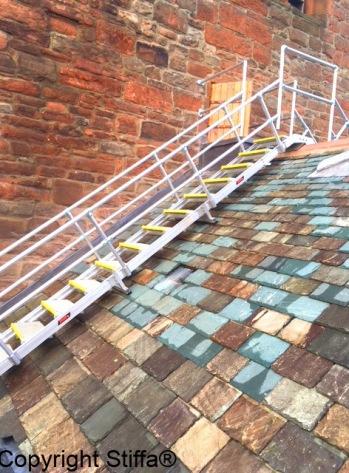 Steps Over Slate Roof